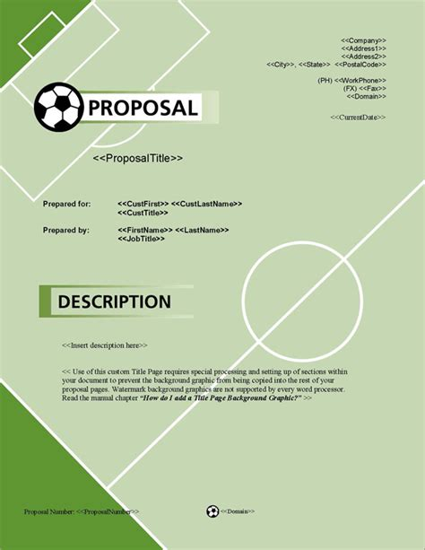 design proposal title proposal pack sports 1 software templates sles