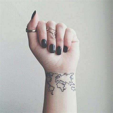 32 elegant map tattoos on wrists