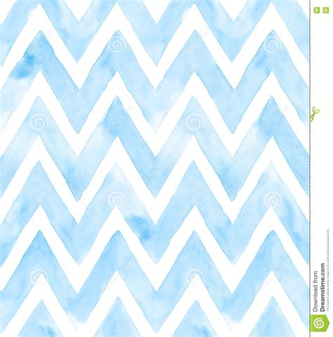pattern in blue color chevron of blue color on white background watercolor