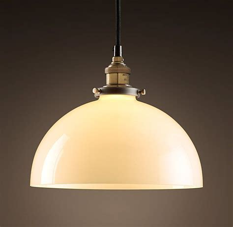 glass dome room 20th c factory filament milk glass dome pendant dining room lights