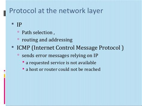 internet control message protocol osi model 7 layer