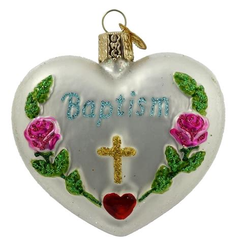 baptism heart ornament traditions