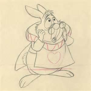 In White Rabbit Drawing in white rabbit drawing
