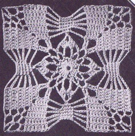 vintage crochet pattern  bedspread  classic square