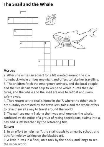 The Snail and the Whale Crossword by HistoriaVictoria