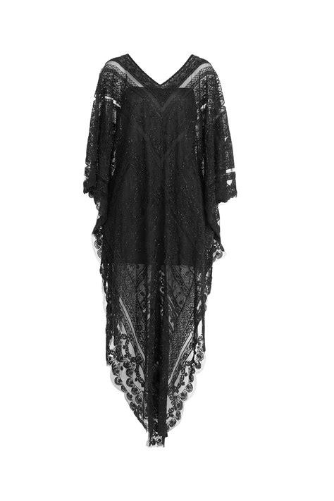 Kaftan Lace lyst valentino lace kaftan black in black