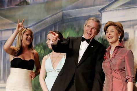George H W Bush Date Of Birth file jenna barbara george w laura bush jan 19 2005 jpg