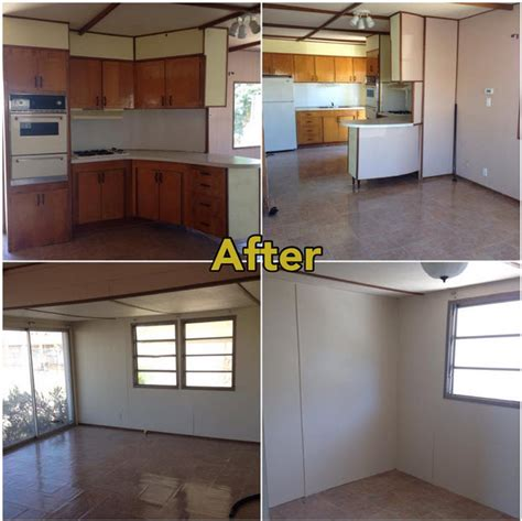 mobile home renovation before and after 28 images