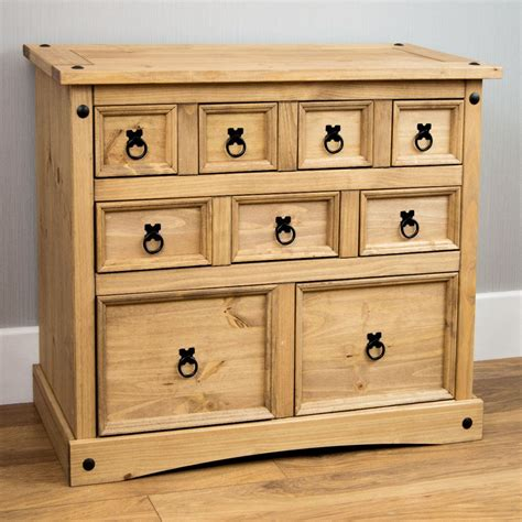 Mexican Corona Bedroom Furniture Corona Panama Chest Of Drawers Bedside Bedroom Mexican Solid Pine Furniture Ebay