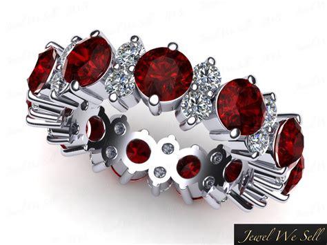 Ruby 4 85ct 4 85ct ruby garland eternity anniversary band ring