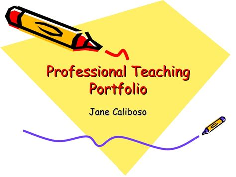 professional teaching portfolio template professional teaching portfolio