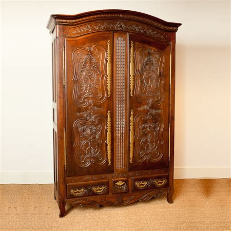 Antique Armoire by Antique Armoire In Chestnut C 1830 Bonnin