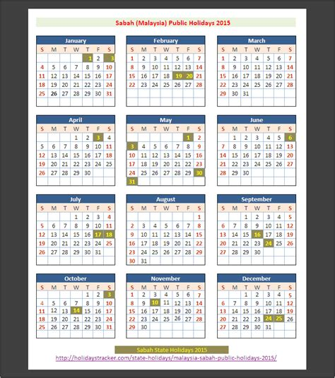 new year 2015 malaysia calendar sabah malaysia holidays 2015 holidays tracker