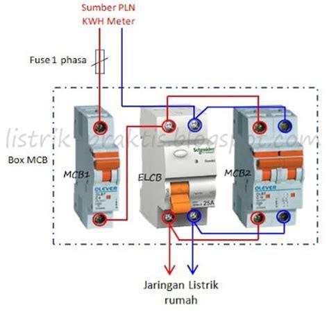 Elcb Pengaman Listrik Dari Kesetrum mcb listrik rumah diagram repair wiring scheme