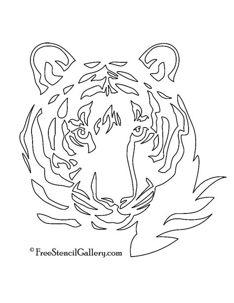 tiger template printable tiger stencil free stencil gallery