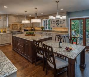 Eat In Kitchen Islands Eat In Kitchen Large Island Traditional Kitchen Other Metro By Emery Design Woodwork