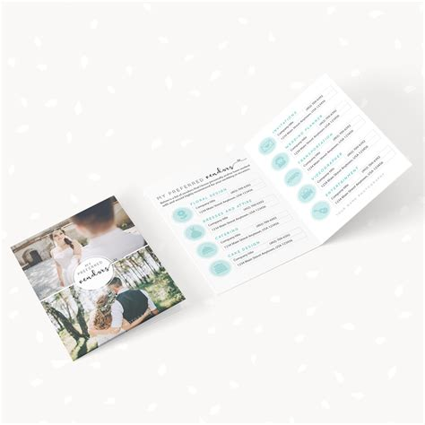 Folded Card Templates For Photographers by Preferred Vendors Template Folded Card Strawberry Kit