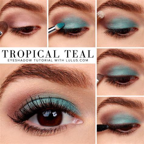 tutorial makeup lulu lulus how to tropical teal eyeshadow tutorial lulus com