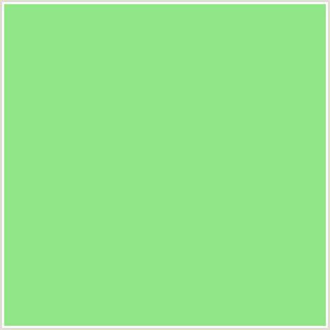apple green color 91e687 hex color rgb 145 230 135 smith
