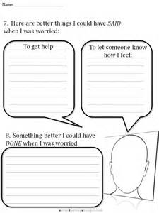 cbt children s emotion worksheet series 7 worksheets for
