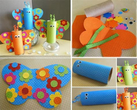 Butterfly Toilet Paper Roll Craft - diy toilet roll butterfly crafts for