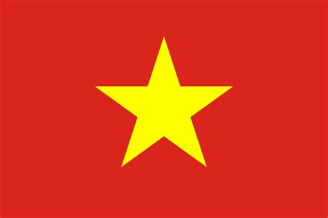 printable red star flag with star printable flags