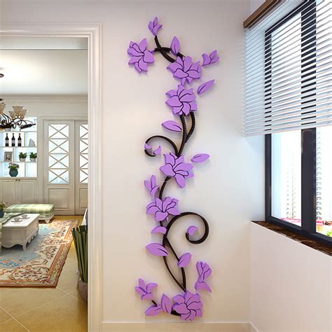 Home Decoration Sale by 2016 Sale 3d Acrylic Rose Flower Wall Stickers Home