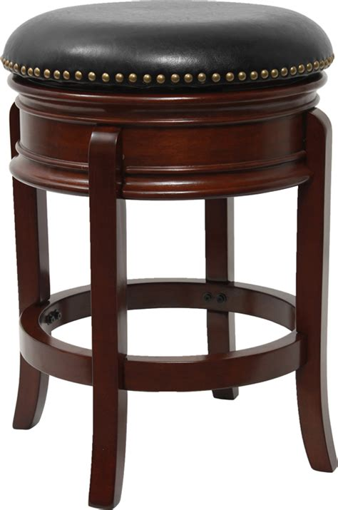 Backless Leather Counter Height Stools by 24 Backless Cherry Wood Counter Height Stool With Black
