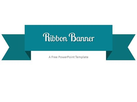 powerpoint banner template turquoise ribbon banner powerpoint template ribbon
