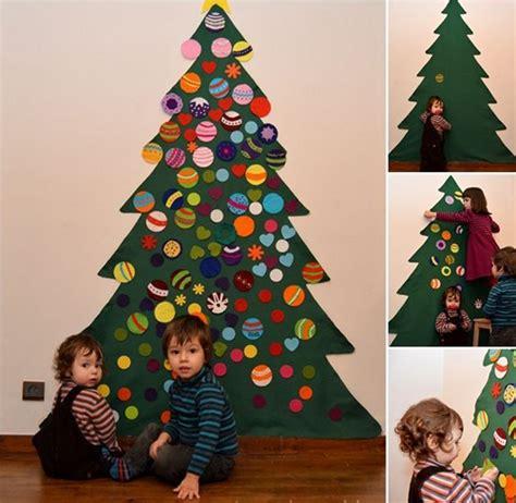 christmas tree diy art for kids diy felt tree for
