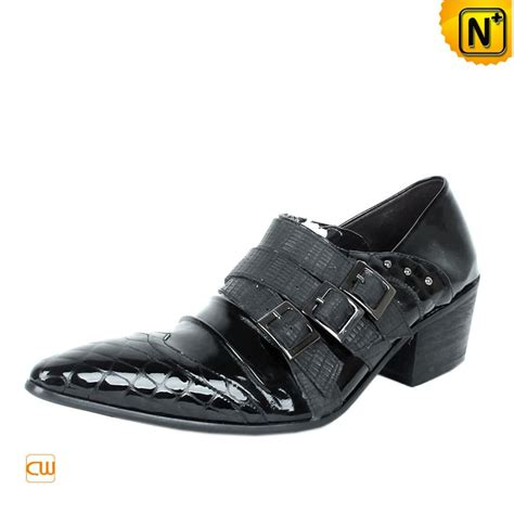 black italian leather dress shoes for cw760109