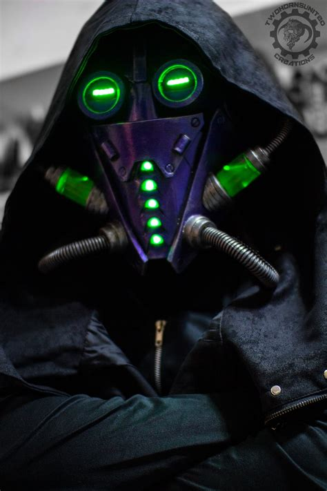 Light Up Mask by The Xenomancer Scifi Light Up Mask By Twohornsunited On