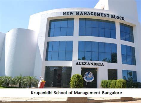 Hospital Management Mba In Bangalore by Krupanidhi School Of Management Bangalore Ksm