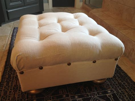 recovering an ottoman the decorating duchess how i recovered my ottoman