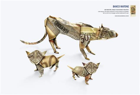 origami advertising clever origami brand ads from a bank in brazil