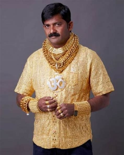 Wealthy Marathi gets himself a 3.25 kg Gold shirt   MyCoolBin