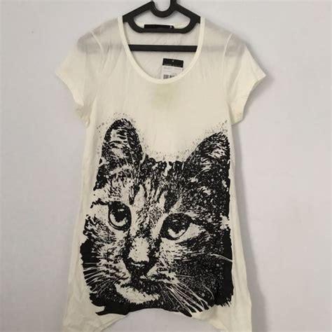 Baju Kaos Cowok Pria Motif Kucing kaos panjang motif kucing olshop fashion olshop wanita