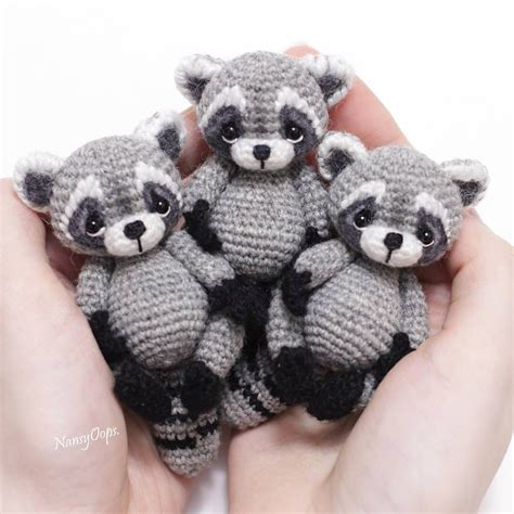 amigurumi raccoon pattern free nouvelles crocheting pinterest amigurumi crochet