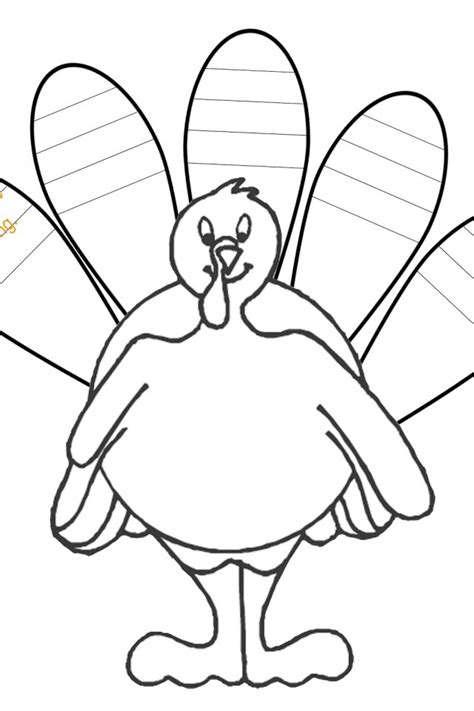 printable blank turkey turkey feather coloring page az coloring pages