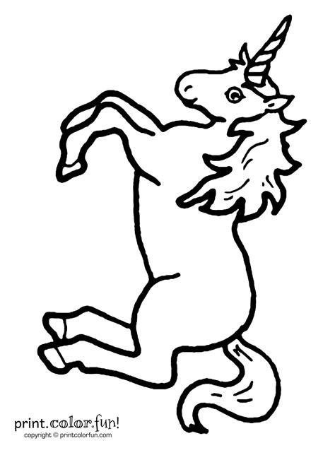 free printable unicorn stencils leaping unicorn coloring page print color fun