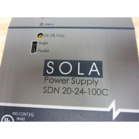 Power Supply Box 20 A sola sdn 20 24 100c power supply sdn2024100c new no box mara industrial