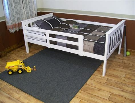 kids bed rail kids versaloft twin bed with safety rails from dutchcrafters amish