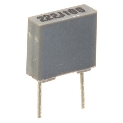 polyester capacitor codes 2200pf 5 100v 5mm pitch faratronic polyester capacitor rapid