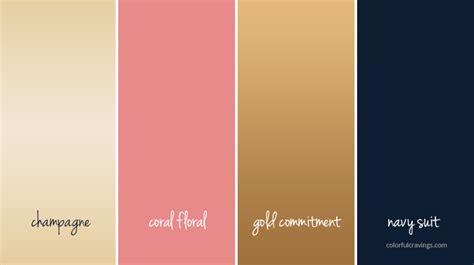 gold color palette color palette gold navy coral chagne wedding colors