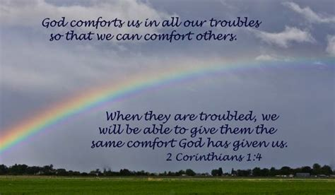 god is a god of comfort comfort others
