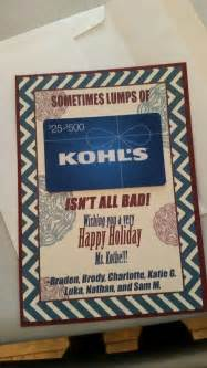 kohls christmas gifts kohl s gift card or present appreciation