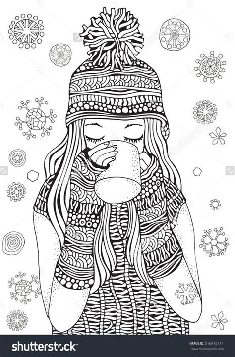 coloring pages for adults girl 296 best christmas drawings images on pinterest