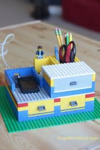 build a lego desk organizer with working drawers frugal