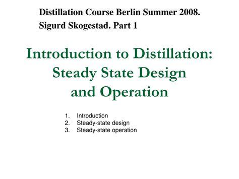 distillation design mcgraw hill ppt introduction to distillation steady state design