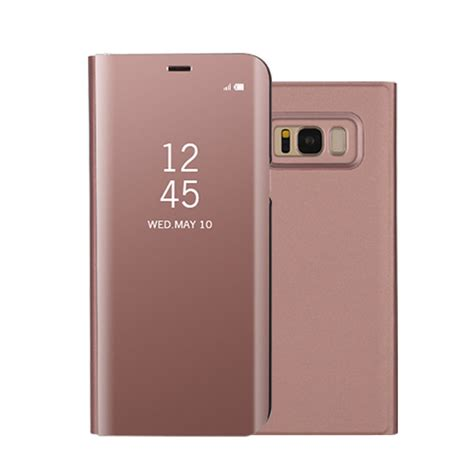 Smart Miror Clear View Flip Stand Samsung Galaxy Note 8 leather flip smart view mirror stand cover for samsung galaxy s8 s8 plus ebay